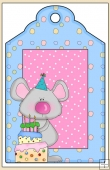 Sweet Birthday Treats Gift Tag - REF_T629
