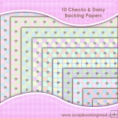 10 Checks & Daisys Backing Paper Download