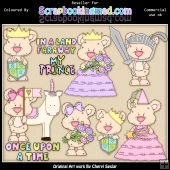 RESALE ART WORK Shorty Bears Once Upon A Time ClipArt Collection