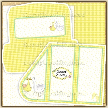 Lemon Baby Teardrop Card PDF Decoupage Download
