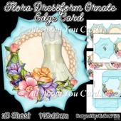 Flora Dressform Ornate Edge Card