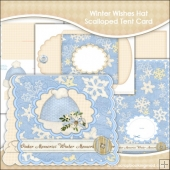 Winter Wishes Hat Scalloped Tent Card