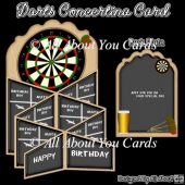 Darts Concertina Card