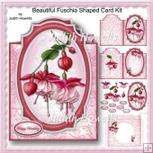 Beautiful Fuschia Shaped Card Kit