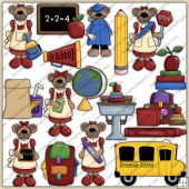 Mama Bears School ClipArt Graphic Collection