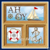 AHOY Card Front With Insert