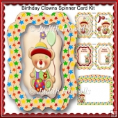 Birthday Clowns Spinner Card Kit