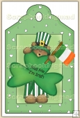 Kiss Me I'm Irish Cute Bear (1) Decorative Tag - REF_T90