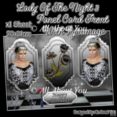 Lady Of The Night 3 Panel Card Front