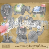 Elle the Elephant Clip Art Download