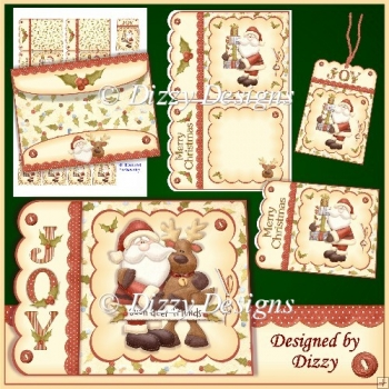 Deer Friends Scalloped Edge Card with Gift Cards and Tags