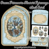 Cream Primavera Flowers Pyramage Arch Card