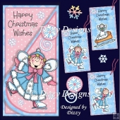 Snow Time Pixies Card with Freebie Tags