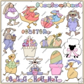 Easter ClipArt Graphic Collection 1