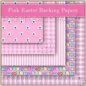 5 Pink Easter Sheep Backing Papers Download (C99)