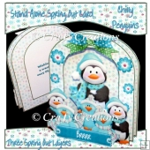 Chilly Penguins Spring out Card