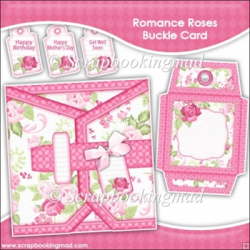 Romance Roses Buckle Style Card & Envelope