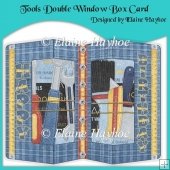 Tools Birthday Double Window Box Card