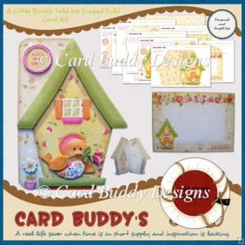 A Little Birdie Told Me Shaped Fold Card Kit