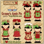 Apple Pie Girls ClipArt Graphic Collection