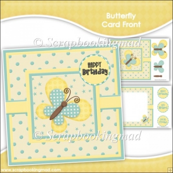 Butterfly Card Front & Insert Panel Kit