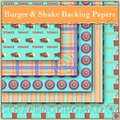 Burger & Shake Backing Papers Download (C66)
