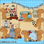 Booboo Bears Boys Playin ClipArt Graphic Collection