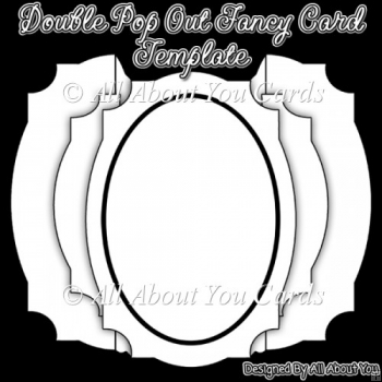 Double Pop Out Card and Envelope Template