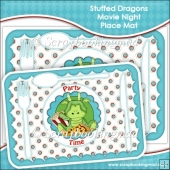 Stuffed Dragons Movie Night Place Mats