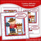 Cowboy Birthday Corner Stacker