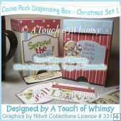 Cocoa Pack Dispensing Box - Christmas Set 1