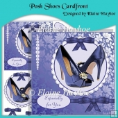 Posh Shoes Cardfront with Decoupage