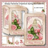 Simply Feminine 3 Aperture Spring Box Card Kit