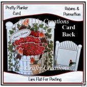 Pretty Planter Card - Robins & Poinsettias