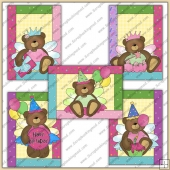 5 Princess Birthday Bears Quick Greeting Cards PDF Download