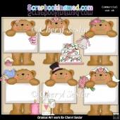 Bulletin Bear Gets Married ClipArt Collection