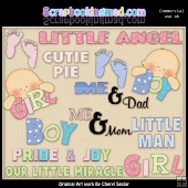 Our Little Miracle ClipArt Graphic Collection