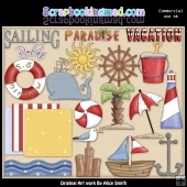 Seashore ClipArt Graphic Collection