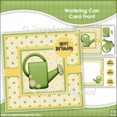 Watering Can Card Front & Insert Panel Kit