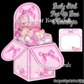 Baby Girl Pop Up Box Card