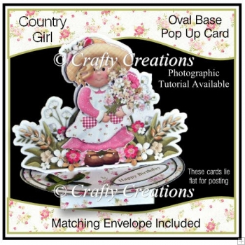 Oval Based Pop Up - Country Girl