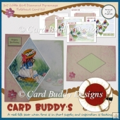 5x7 Little Girl Diamond Pyramage Foldback Card Kit