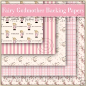 5 Fairy Godmother Backing Papers Download (C111)