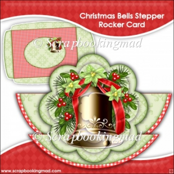 Christmas Bells Rocker Stepper Card & Envelope