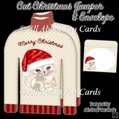 Cat Christmas Jumper Card & Envelope