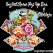English Roses Pop Up Box Card & Envelope