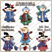 Snowman 1 ClipArt Graphic Collection