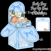 Baby Boy Pop Up Box Card