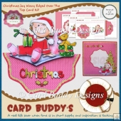 Christmas Joy Wavy Edged Over The Top Card Kit