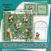 Busy Elves Square Card Kit
